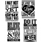Tim Holtz Cling Mount Stamps - Motivation 3 CMS291