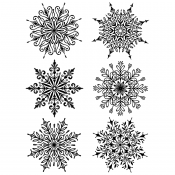 Tim Holtz Cling Mount Stamps - Swirly Snowflakes CMS319