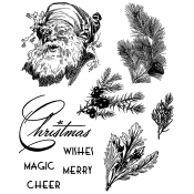 Tim Holtz Cling Mount Stamps - Christmas Classic CMS322