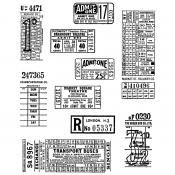 Tim Holtz Cling Mount Stamps - Ticket Booth CMS337