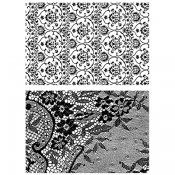 Tim Holtz Cling Mount Stamps - Ornate & Lace CMS348