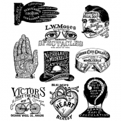 Tim Holtz Cling Mount Stamps: Eclectic Adverts CMS372