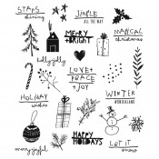 Tim Holtz Cling Mount Stamps: Seasonal Scribbles CMS386