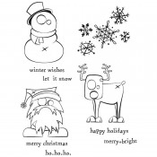 Tim Holtz Cling Mount Stamps: Merry Misfits CMS387