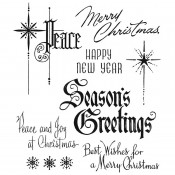 Tim Holtz Cling Mount Stamps - Christmastime 2 CMS389