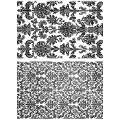 Tim Holtz Cling Mount Stamps - Tapestry CMS414
