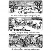 Tim Holtz Cling Mount Stamps: Holiday Scenes CMS425