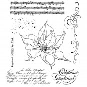 Tim Holtz Cling Mount Stamps: The Poinsettia CMS426