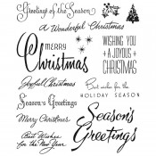 Tim Holtz Cling Mount Stamps: Christmastime 3 CMS427