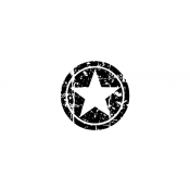 Tim Holtz Wood Mounted Stamp - Circle Star D3-1406