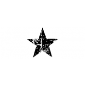 Tim Holtz Wood Mounted Stamp - Scratched Star D3-1407