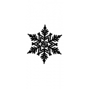 Tim Holtz Wood Mounted Stamp - Snowflake 5 D3-1569