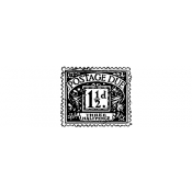 Tim Holtz Wood Mounted Stamp - Postage Due D3-2101