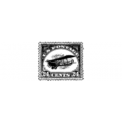 Tim Holtz Wood Mounted Stamp - Air Postage Stamp D3-2431