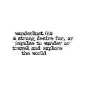 Tim Holtz Wood Mounted Stamp - Wanderlust D4-2606