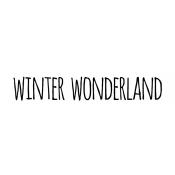 Tim Holtz Wood Mounted Stamp - Bold Scribble Winter Wonderland D5-2702