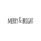 Tim Holtz Wood Mounted Stamp - Bold Scribble Merry & Bright D6-2708