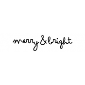 Tim Holtz Wood Mounted Stamp - Scribble Merry & Bright D6-2710