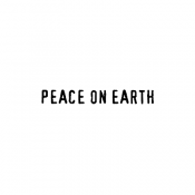 Tim Holtz Wood Mounted Stamp - Peace on Earth D6-3119