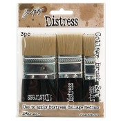 Tim Holtz Distress Collage Brushes: 3 Brush Assortment - TDA50896
