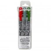 Tim Holtz Distress Pearlescent Crayons: Holiday Set 1 - TSHK78258