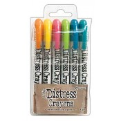 Tim Holtz Distress Crayons Set #1 TDBK47902