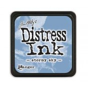 Tim Holtz Mini Distress Ink Pad: Stormy Sky - TDP40217
