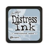 Tim Holtz Mini Distress Ink Pad, Weathered Wood - TDP40286