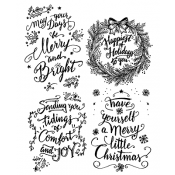 Tim Holtz Cling Mount Stamps - Doodle Greetings #1 CMS285