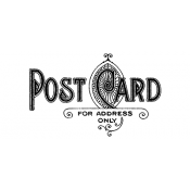 Tim Holtz Wood Mounted Stamp - Postage 3 E1-1589