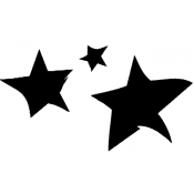 Tim Holtz Wood Mounted Stamp - Cut Stars E1-2331