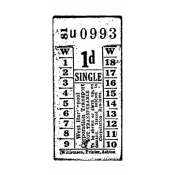 Tim Holtz Wood Mounted Stamp - Transport Ticket E2-1280