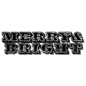 Tim Holtz Wood Mounted Stamp - Merry & Bright E3-2685