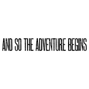 Tim Holtz Wood Mounted Stamp - Adventure Begins E4-2609