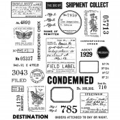Tim Holtz Cling Mount Stamps: Field Notes CMS396