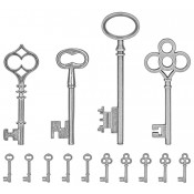 Tim Holtz Idea-ology Adornments: Keys - TH93321