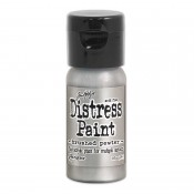 Tim Holtz Flip Top Distress Paint: Brushed Pewter TDF52968