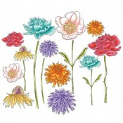 Sizzix Framelits Die Set: Flower Garden & Mini Bouquet 661613
