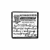 Tim Holtz Wood Mounted Stamp - Prescription G1-3198