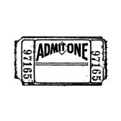 Tim Holtz Wood Mounted Stamp - Admit One G2-1276