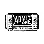 Tim Holtz Wood Mounted Stamp - Movie Ticket G2-1525