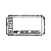 Tim Holtz Wood Mounted Stamp - Blank Ticket G2-1605