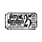Tim Holtz Wood Mounted Stamp - Christmas Ticket G2-1607
