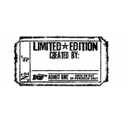 Tim Holtz Wood Mounted Stamp - Limited Edition Ticket G2-1609