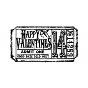 Tim Holtz Wood Mounted Stamp - Valentines Ticket G2-1610