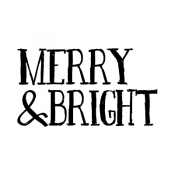 Tim Holtz Wood Mounted Stamp - Sketch Merry and Bright G2-2929