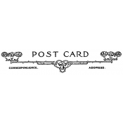 Tim Holtz Wood Mounted Stamp - Postage 2 G4-1596