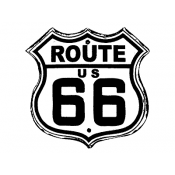 Tim Holtz Wood Mounted Stamp - Route 66 H1-1804
