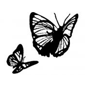 Tim Holtz Wood Mounted Stamp - Butterflies H2-1340