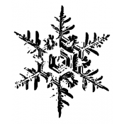 Tim Holtz Wood Mounted Stamp - Snowflake 2 H2-1585